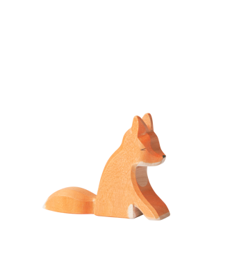 Wooden Sitting Fox